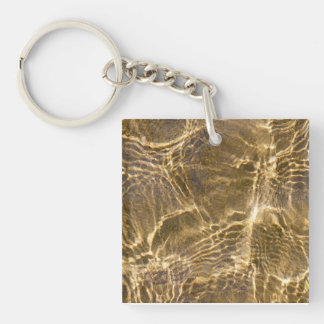 Water and sand ripples keychain