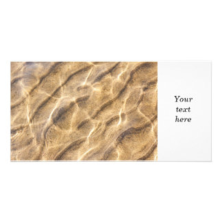 Water and sand ripples personalized photo card