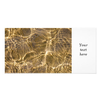 Water and sand ripples custom photo card