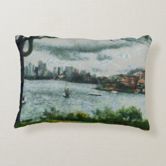 Water and scenery accent pillow