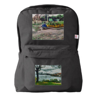Water and scenery american apparel™ backpack