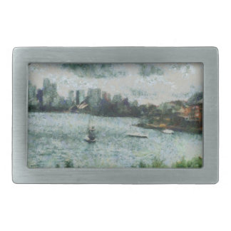 Water and scenery belt buckle