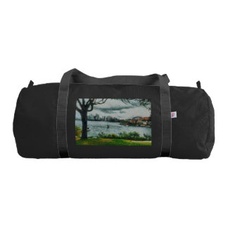 Water and scenery gym bag