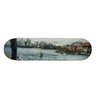 Water and scenery skateboard