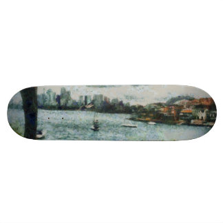 Water and scenery skateboard deck