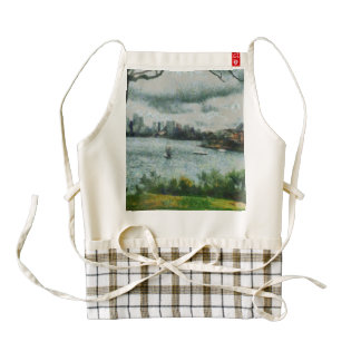 Water and scenery zazzle HEART apron