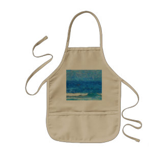 Water and sky kids' apron