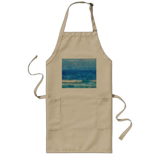 Water and sky long apron