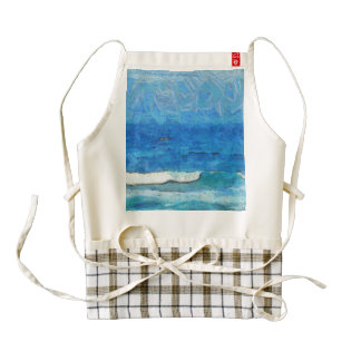 Water and sky zazzle HEART apron