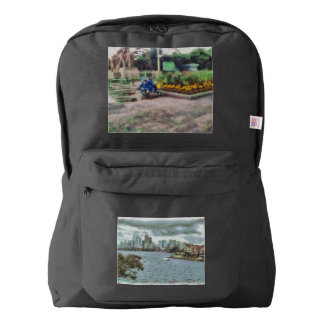 Water and skyline backpack