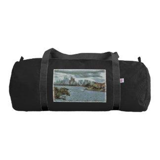 Water and skyline gym bag
