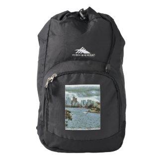 Water and skyline high sierra backpack