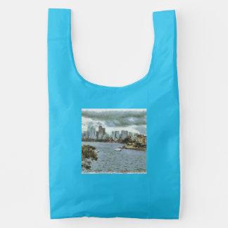 Water and skyline reusable bag