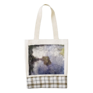 Water and small island art zazzle HEART tote bag