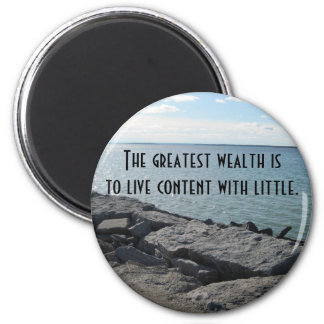 Water and Wealth Fridge Magnet