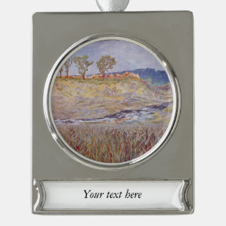 Water and Weeds Silver Plated Banner Ornament