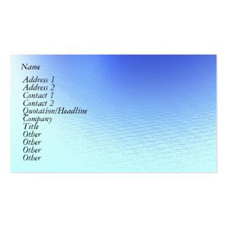 Water and Wind Double-Sided Standard Business Cards (Pack Of 100)