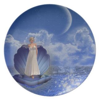 Water Angel  Plate