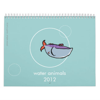 water animals 2012 - with your own words calendar