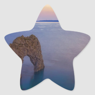 Water Arched Cove At Dusk Star Sticker