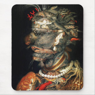 Water - Arcimboldo's bizarre head profile Mouse Pad