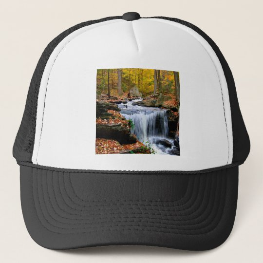 Water Autumn Falls Trucker Hat