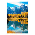 Water Autumn Grand Teton National Park Stationery Design