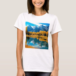 Water Autumn Grand Teton National Park T-Shirt