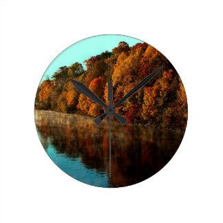 Water Autumn Tree Harmony Wallclocks