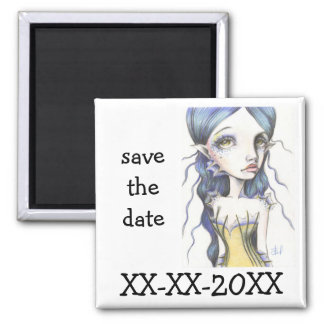 Water Babe 2 Inch Square Magnet