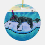 Water Babies Double-Sided Ceramic Round Christmas Ornament