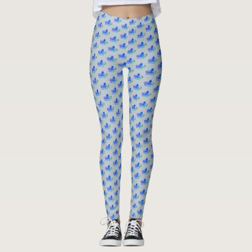 Beach Themed Water Baby - Blue Octopus Leggings