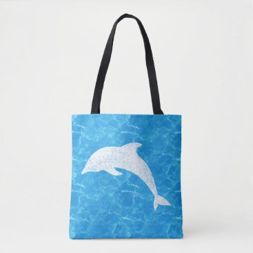 Beach Themed Water Baby Dolphin Tote