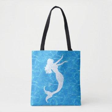 Beach Themed Water Baby Mermaid Tote