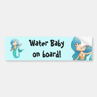 Water Baby on Board Bumper Sticker Car Bumper Sticker
