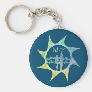 Water Baby Sun Distressed Keychain