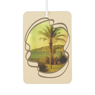 Beach Themed Water Baby Vintage Palm Air Freshener