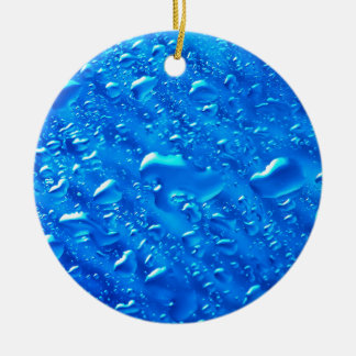 Water Background Ceramic Ornament