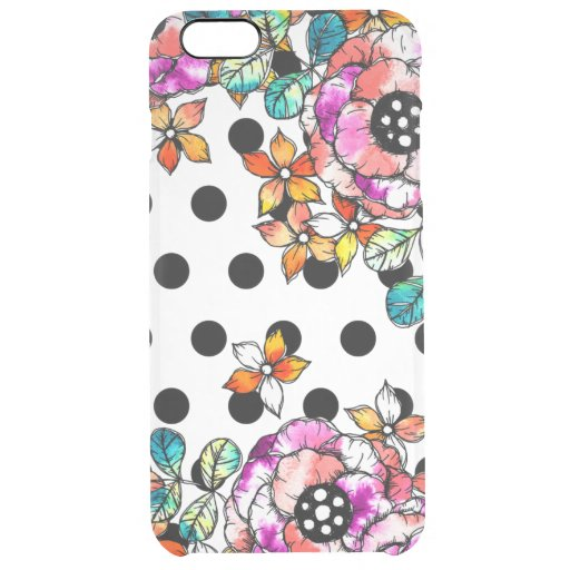 WATER BALL AND FLOWER PATTERN iPhone CASE