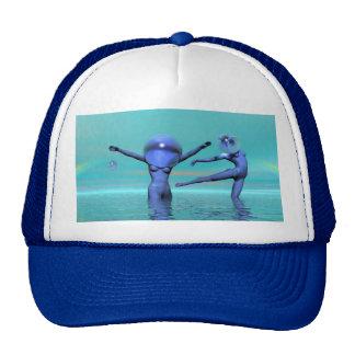 Water ballet trucker hats