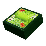 Water Bamboo and Tropical Flowers giftbox Keepsake Box