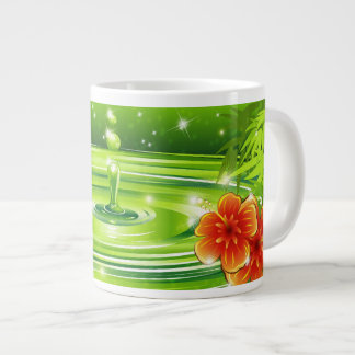 Water Bamboo and Tropical Flowers Specialty Mug