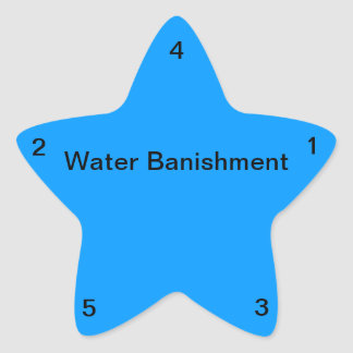 Water Banishment Star Sticker