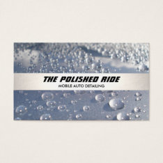Water Beads Auto Detailing Silver Stripe Business Card at Zazzle