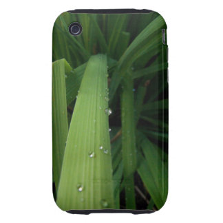 Water Beads on Grass iPhone 3 Tough Cover