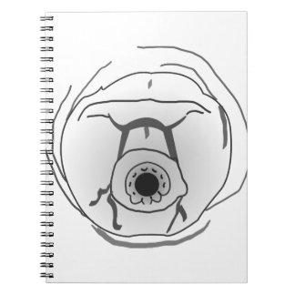 Water Bear Tardigrade Face Spiral Notebook