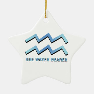 Water Bearer Double-Sided Star Ceramic Christmas Ornament