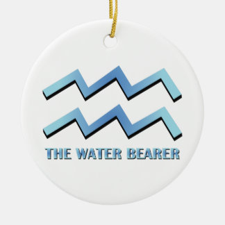 Water Bearer Double-Sided Ceramic Round Christmas Ornament