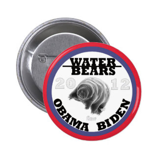 Water Bears for Obama/Biden 2012 Button