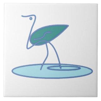 water bird large square tile
